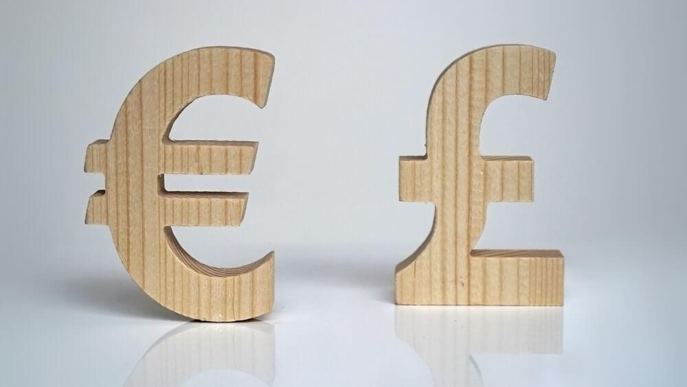 cifrão euro e libra
