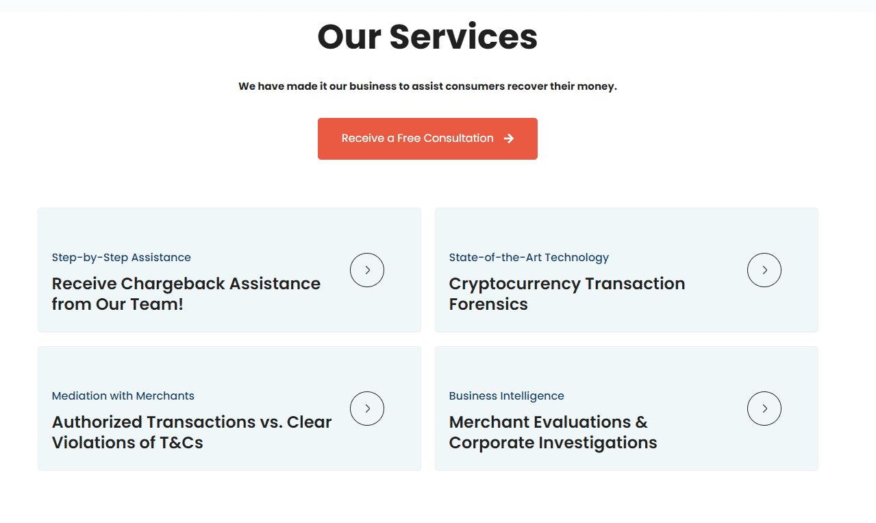 MyChargeBack services