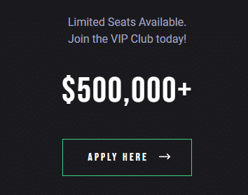 limited seats avalable join the vip club today
