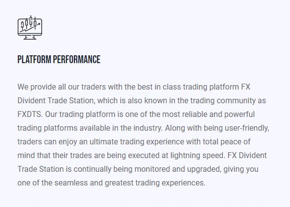 trading platform - platform performance