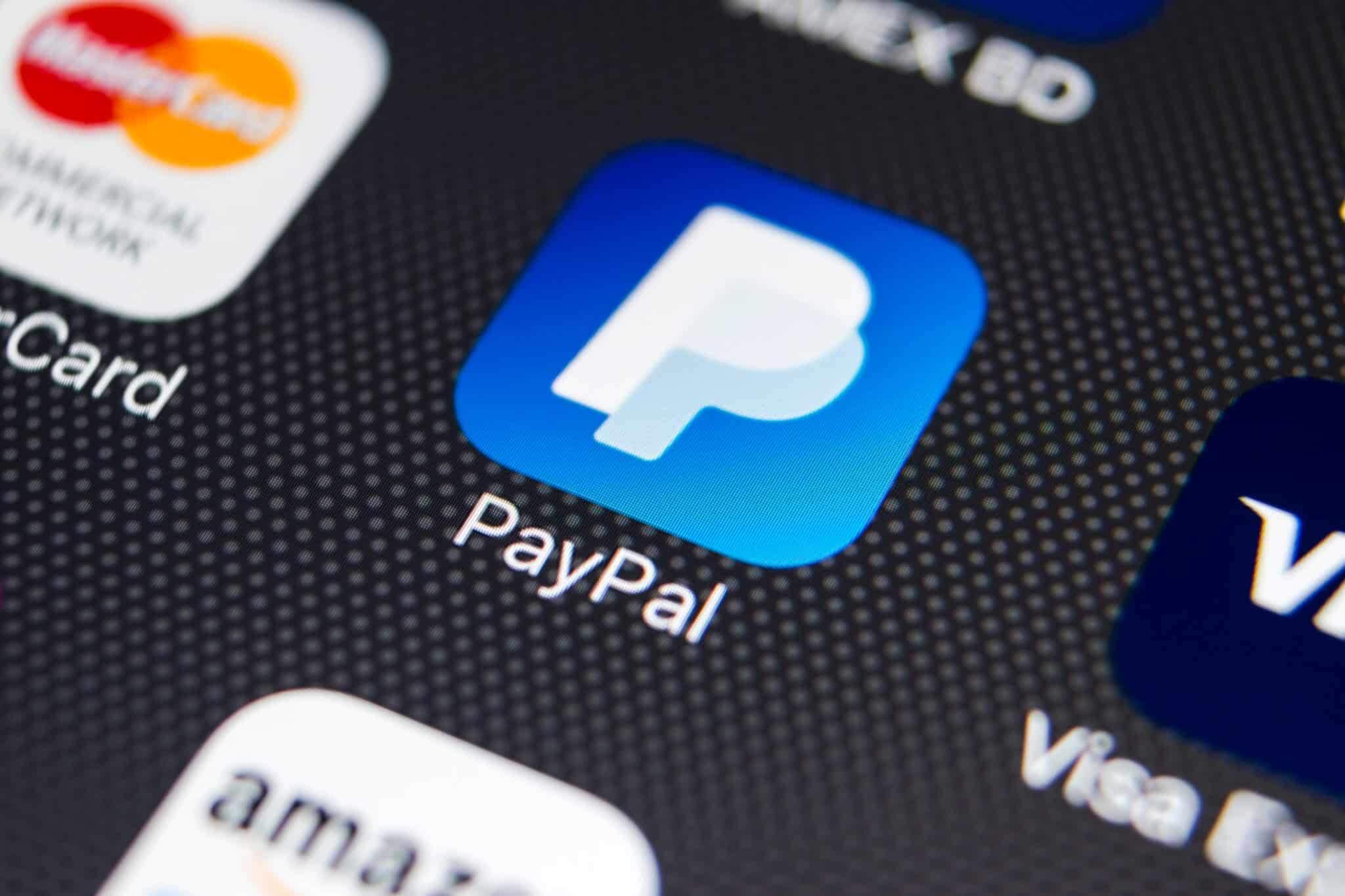 imagem app PayPal tela de celular