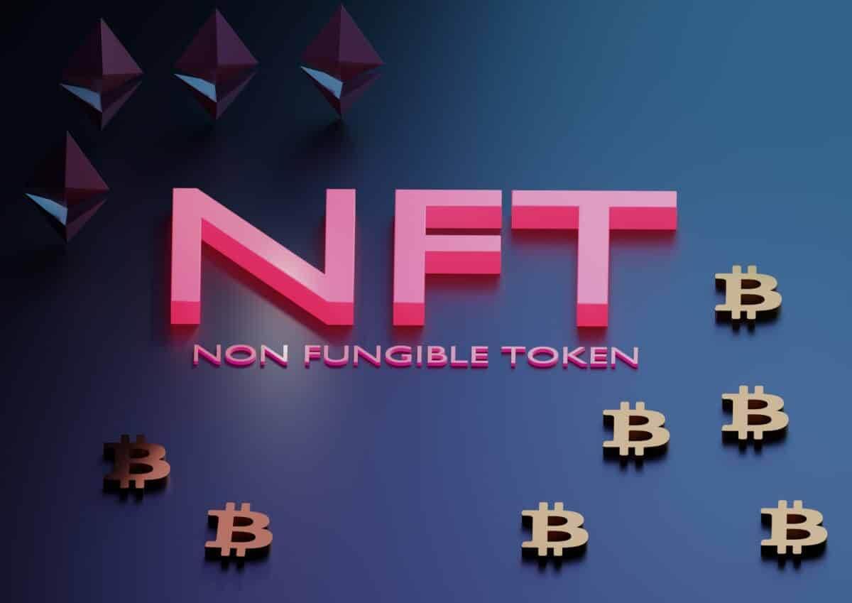 NFT escrito em rosa