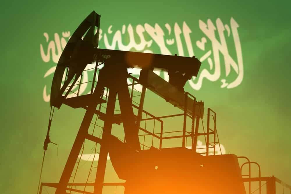 perfuração de petroleo com escrita saudita