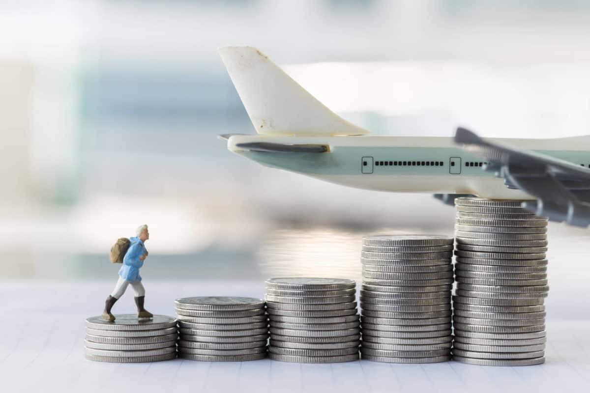 viaje, moneda, monedas, avión, moneda t